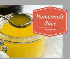 Pressure Cooker (Instant Pot) Homemade Ghee