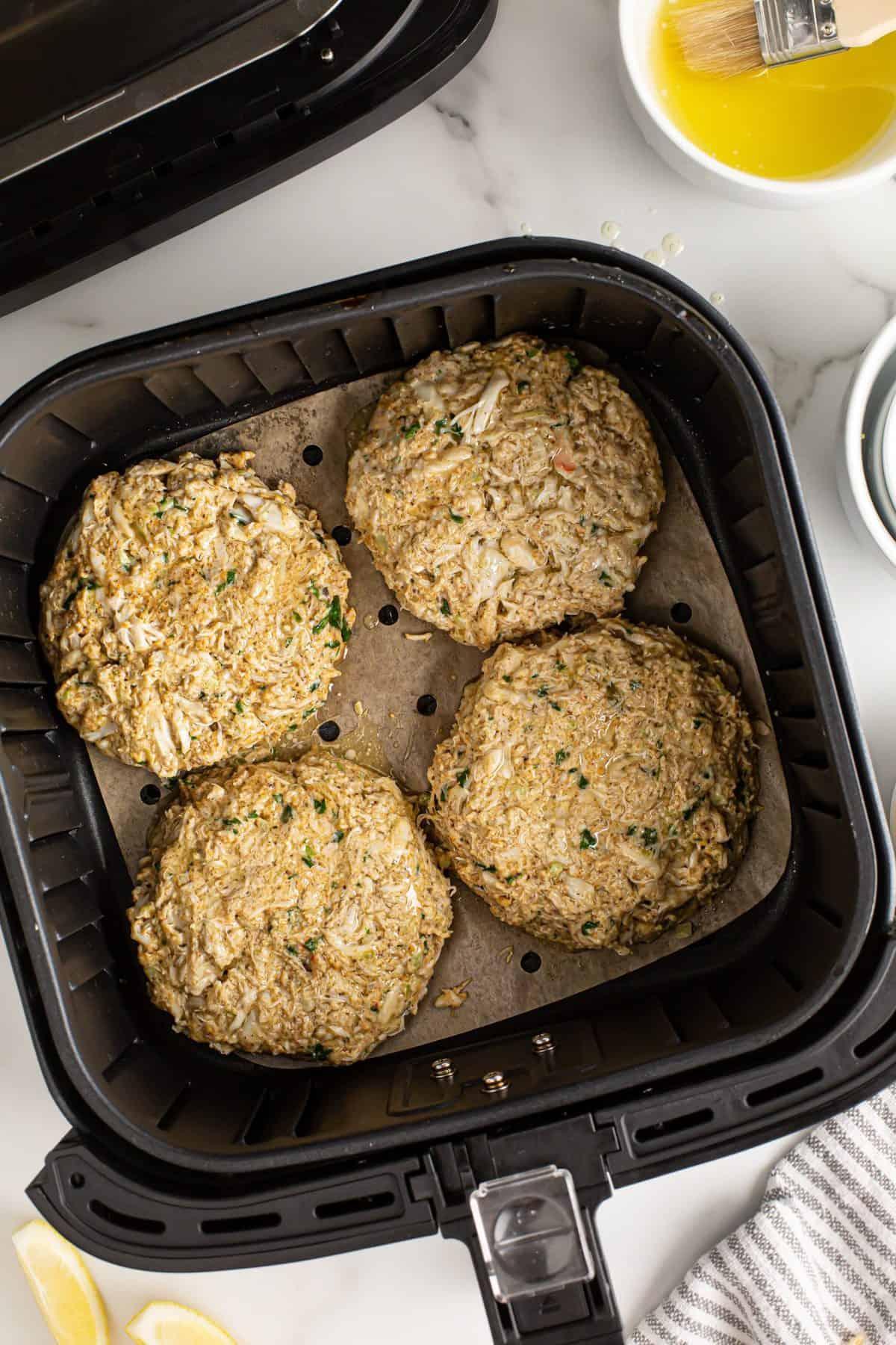 Crab Cakes In Air Fryer Basket