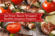 Air Fryer-Bacon Wrapped Stuffed Jalapeno Peppers