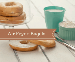 Air Fryer-Three Ingredient Homemade Bagels