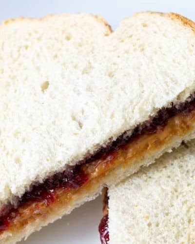 Air Fryer Grilled Peanut Butter and Jelly Sandwich