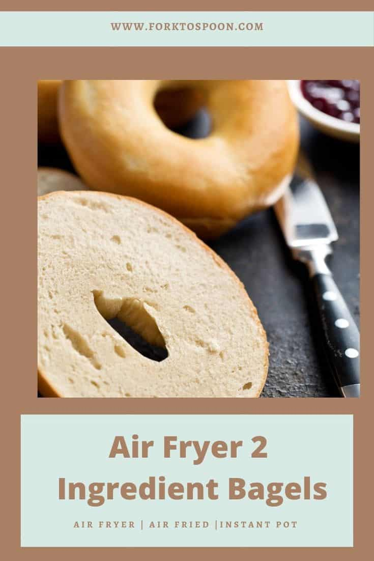Air Fryer Two Ingredient Bagel