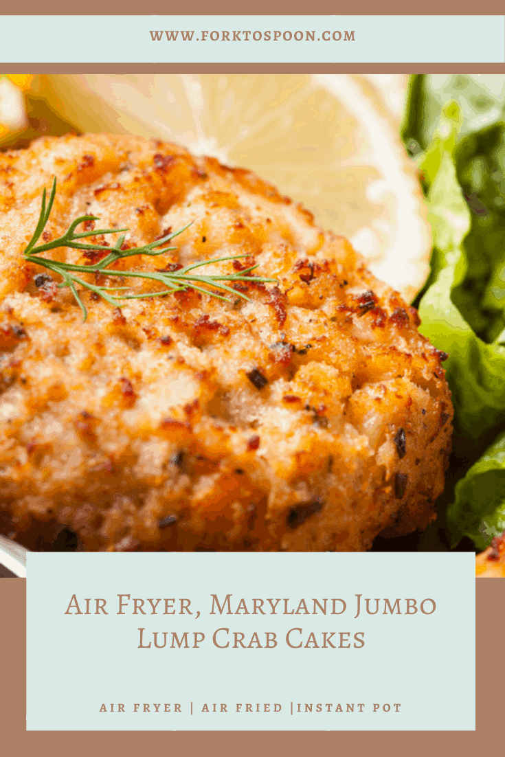 Air Fryer, Maryland Jumbo Lump Crab Cakes