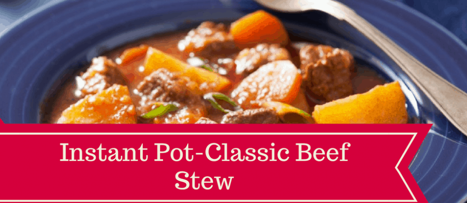 Instant Pot-Homemade Classic Beef Stew
