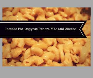 Pressure Cooker (Instant Pot)-Copy Cat (Copycat) Panera Mac N Cheese