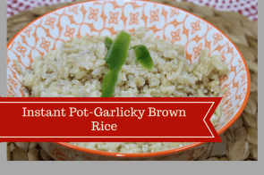 Pressure Cooker, Instant Pot-Garlicky Brown Rice