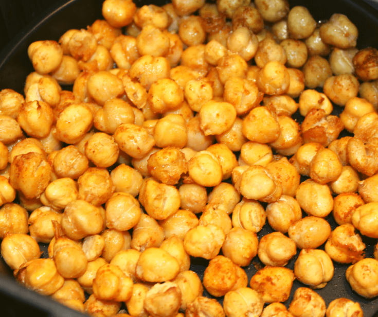 Roasted chickpeas, everyone loves them, but if you went to purchase them in the store, they would cost you over $5 a bag. So, today I bring you my Air Fryer Spiced Chickpea recipe, which could not be any easier. Today, I bring you my version of Air Fryer Extra Crispy Spiced Chickpeas.