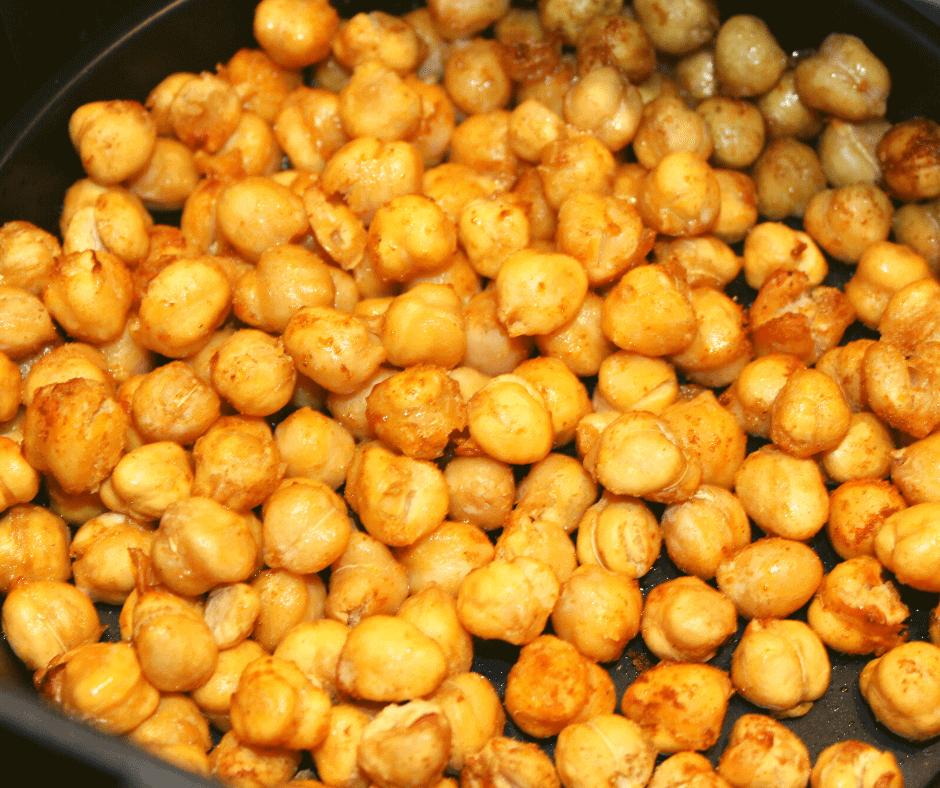 Air Fryer Extra Crispy Spiced Chickpeas