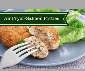 Air Fryer-Homemade Salmon Patties