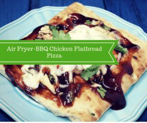 Air Fryer-BBQ Chicken Flatbread