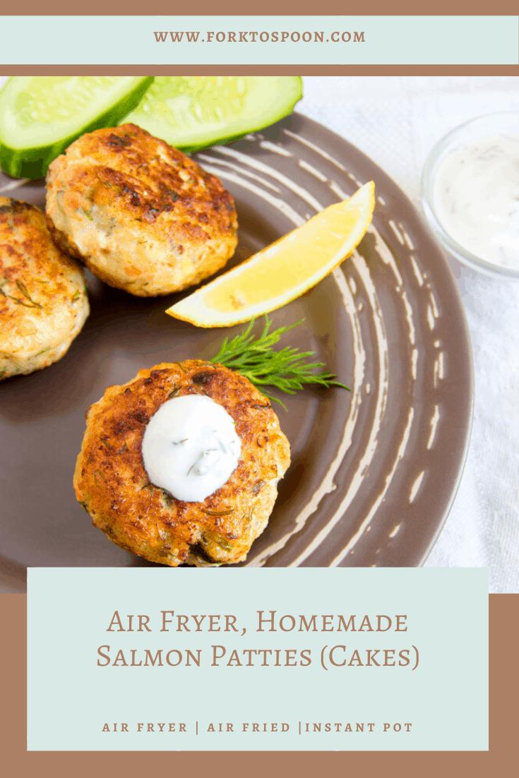 Air Fryer, Homemade Salmon Patties (Cakes)