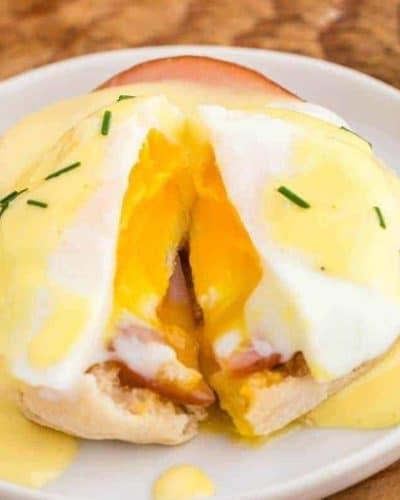 Air Fryer Eggs Benedict