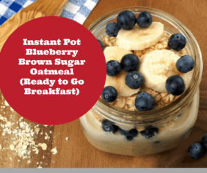 Pressure Cooker, Instant Pot-Single Servings, Blueberry Oatmeal (Ready to Go Meal)