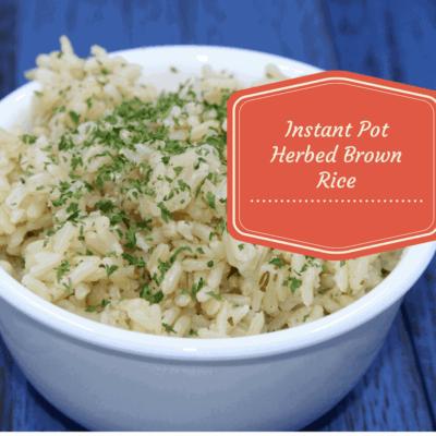 Pressure Cooker, Instant Pot, Herbed Brown Rice