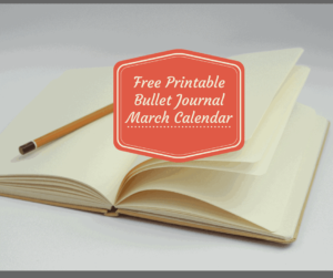 Bullet Journal-FREE March 2018 Printable Calendar