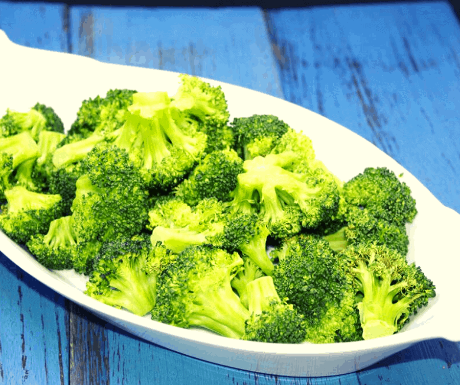 Air Fryer-Roasted Broccoli