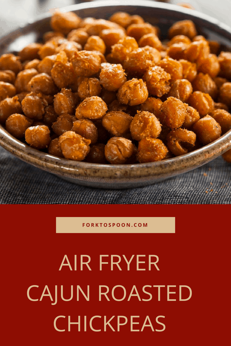 Air Fryer Cajun Roasted Chickpeas