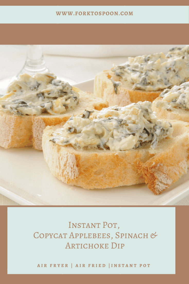 Instant Pot Copycat Applebees Spinach Artichoke Dip Fork To Spoon
