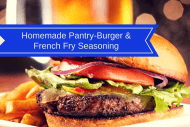 Homemade Pantry-Burger & French Fry Seasoning