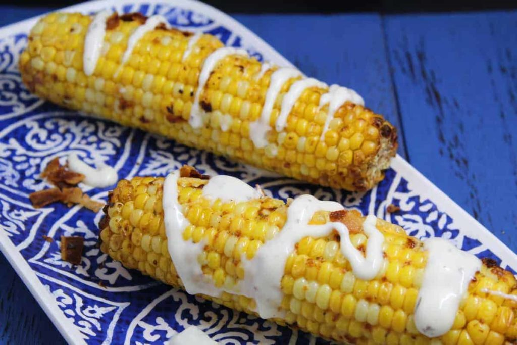 Air Fryer Grilled Corn