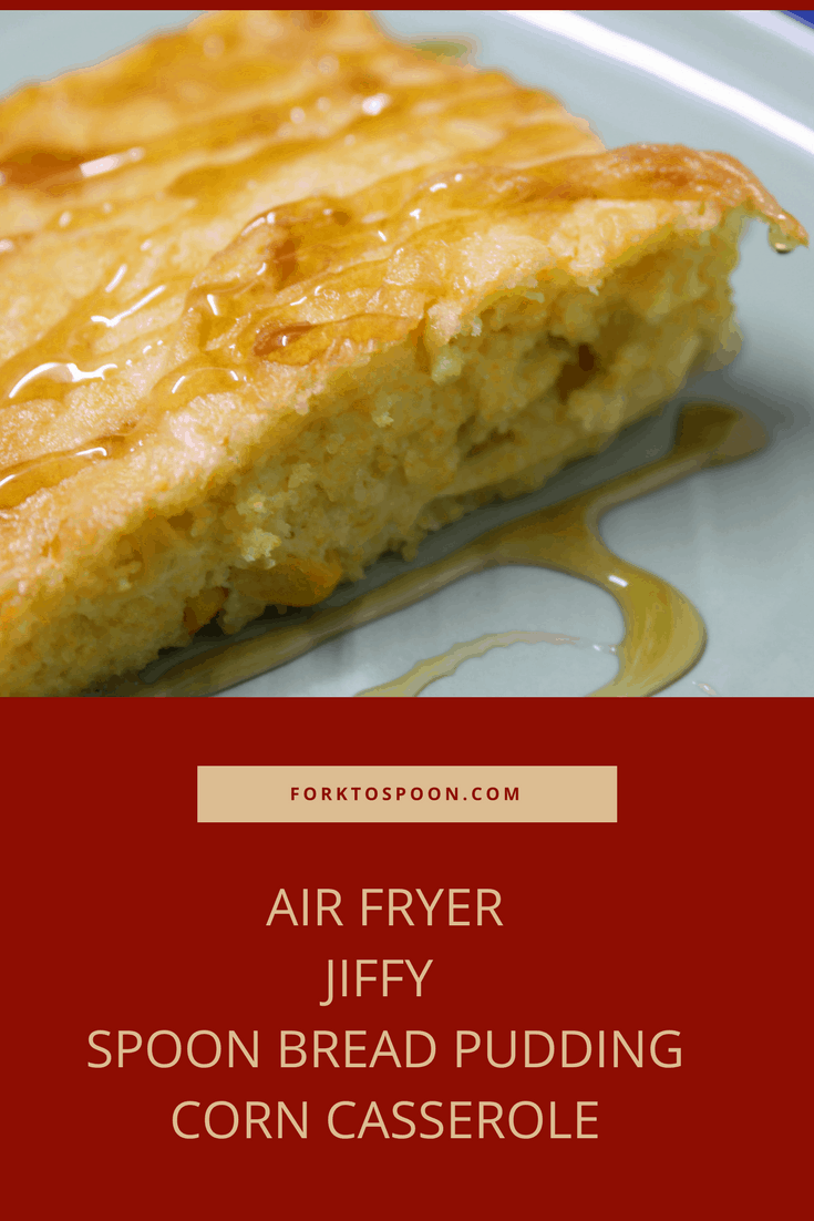 Air Fryer Cornbread Pudding Corn Casserole