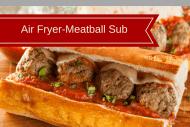 Air Fryer-Meatballs Subs