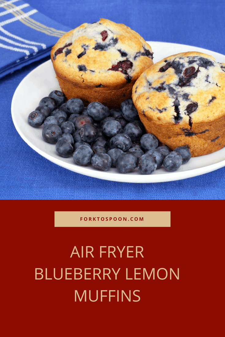 Air Fryer Blueberry Lemon Muffins