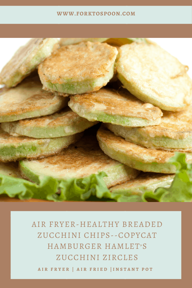 Air Fryer-Healthy Breaded Zucchini Chips--Copycat Hamburger Hamlet's Zucchini Zircles