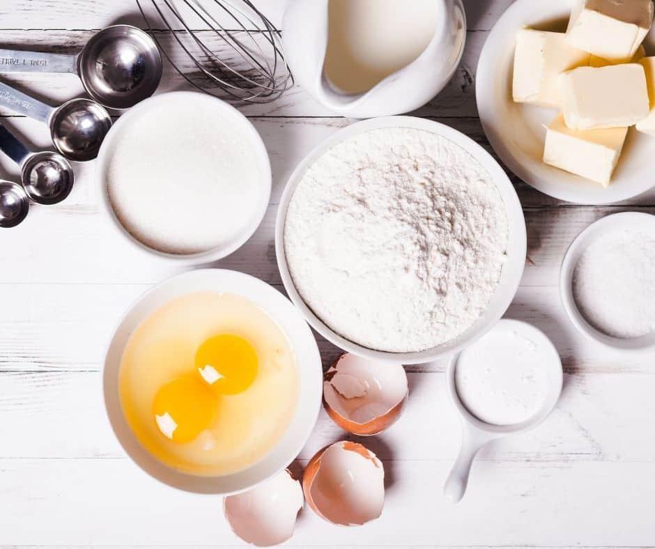Ingredients For Air Fryer Date & Walnut Bread