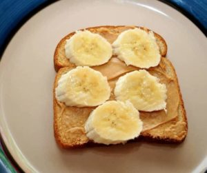 Air Fryer Peanut Butter Banana Toast