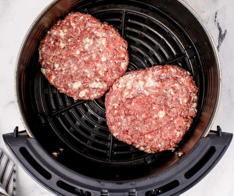Blue Cheese Burgers In Basket