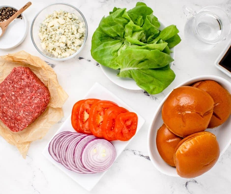 Ingredients Needed For Air Fryer Blue Cheese Burgers