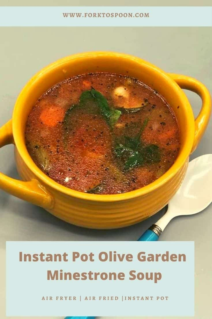 Instant Pot Olive Garden Minestrone Soup