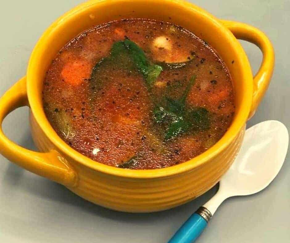 Instant Pot Copycat Olive Garden Minestrone Soup