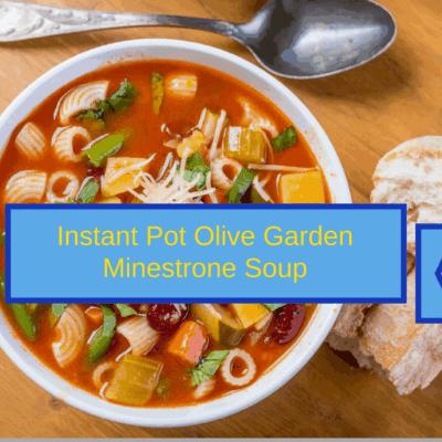 Pressure Cooker (Instant Pot) Copycat Olive Garden Minestrone Soup