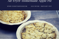 Air Fryer-Air Fried-Homemade Apple Pie (Pies, Cobbler)