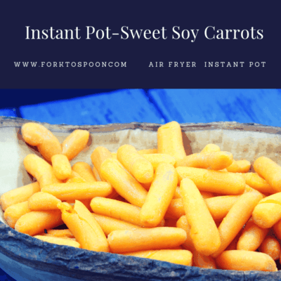 Pressure Cooker-(Instant Pot) Sweet Soy Carrots