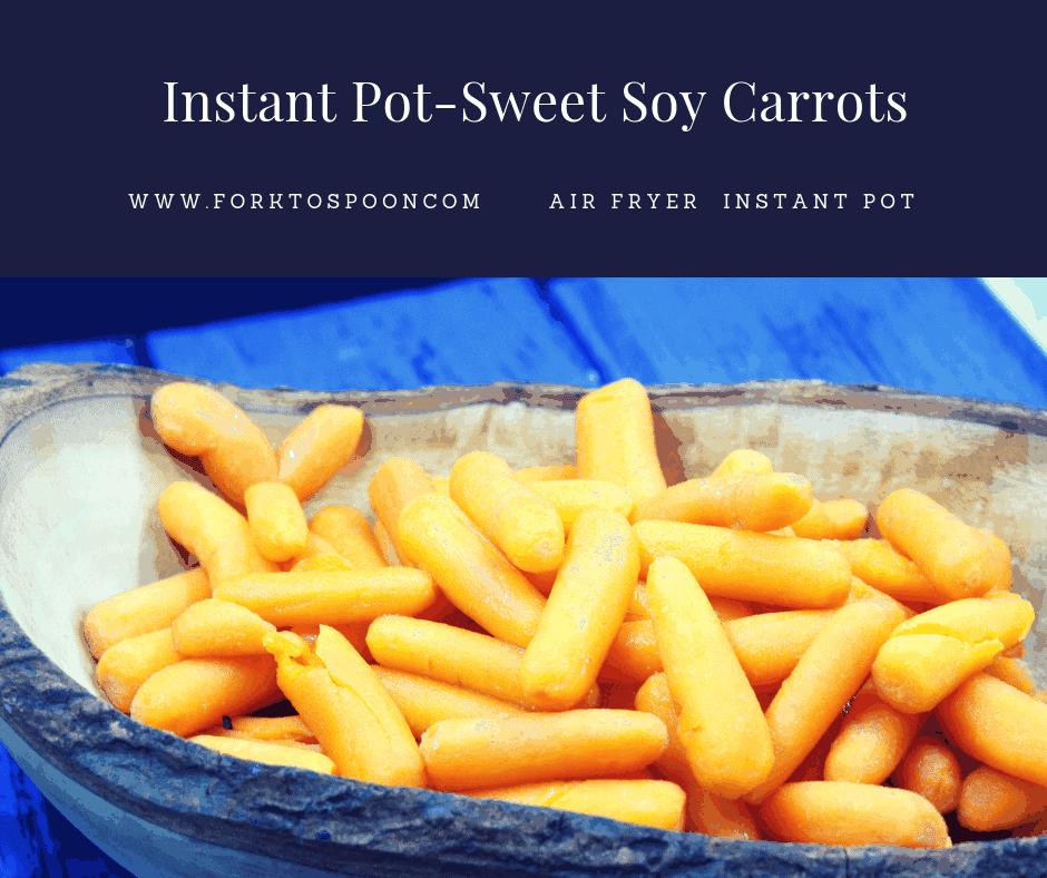 Pressure Cooker-(Instant Pot) Sweet Soy Carrots