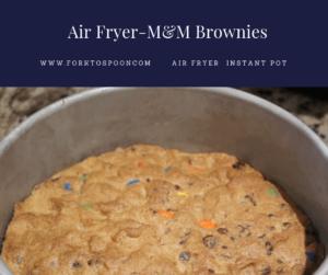 Air Fryer-Homemade M&M Brownie (Brownies) Bars