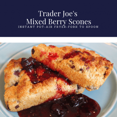 Air Fryer-Trader Joe's Mixed Berry Scones (Easy, Peasy, Using Cuisinart Air Fryer Oven)