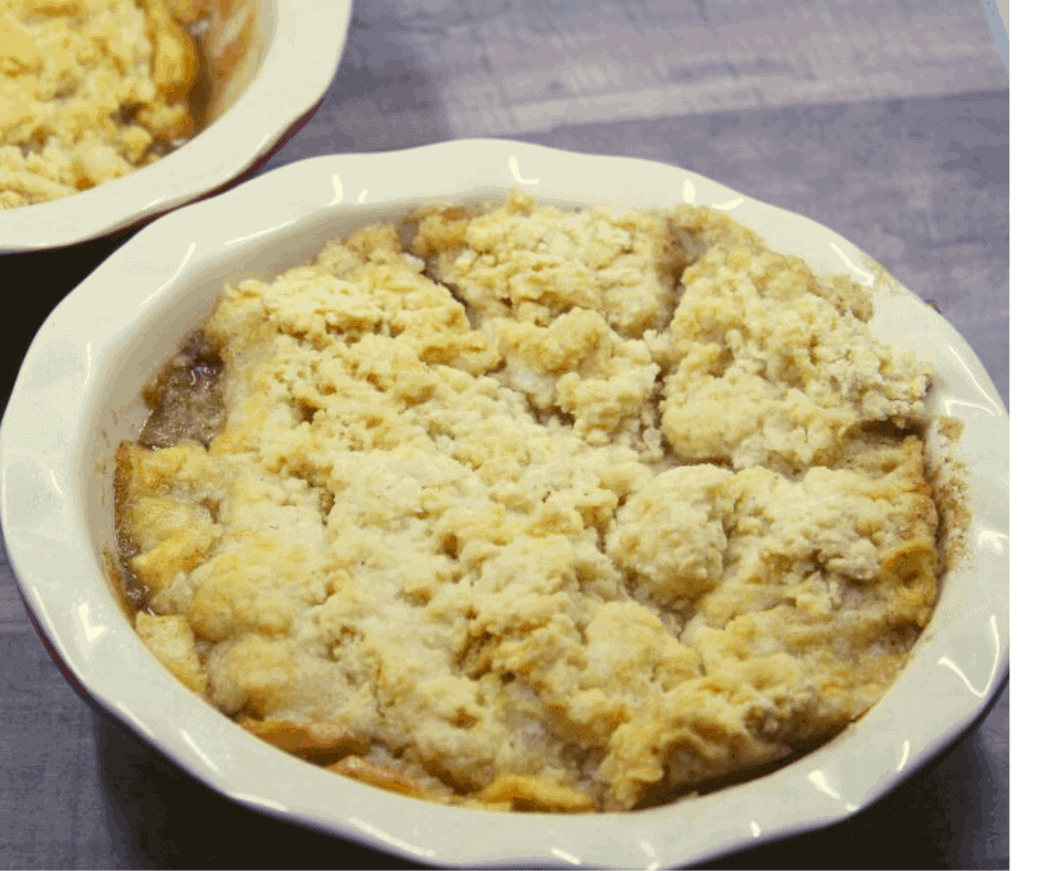 Air Fryer, Homemade Apple Cobbler