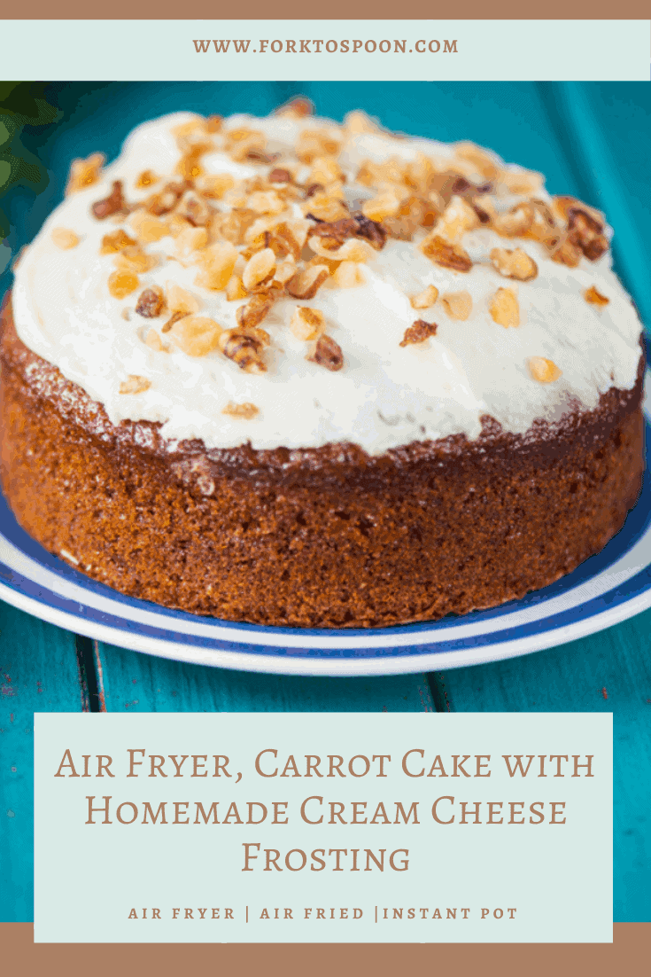 Air Fryer Carrot Cake with Cream Cheese Frosting is one of my favorite recipes.