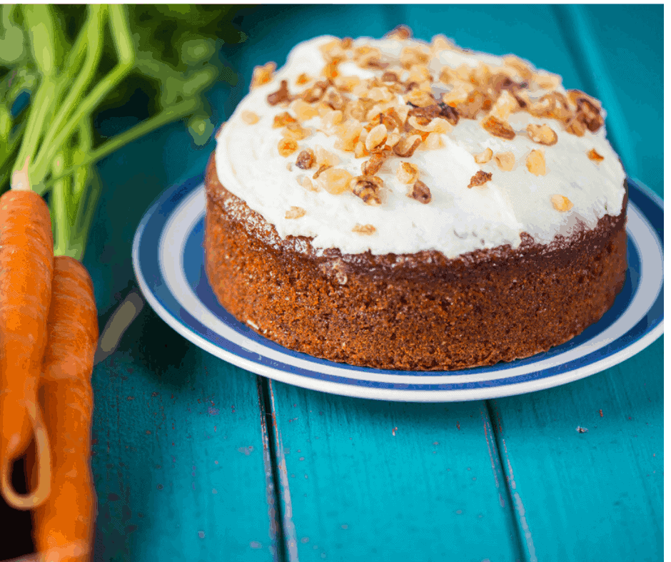 Air Fryer, Carrot Cake with Homemade Cream Cheese Frosting