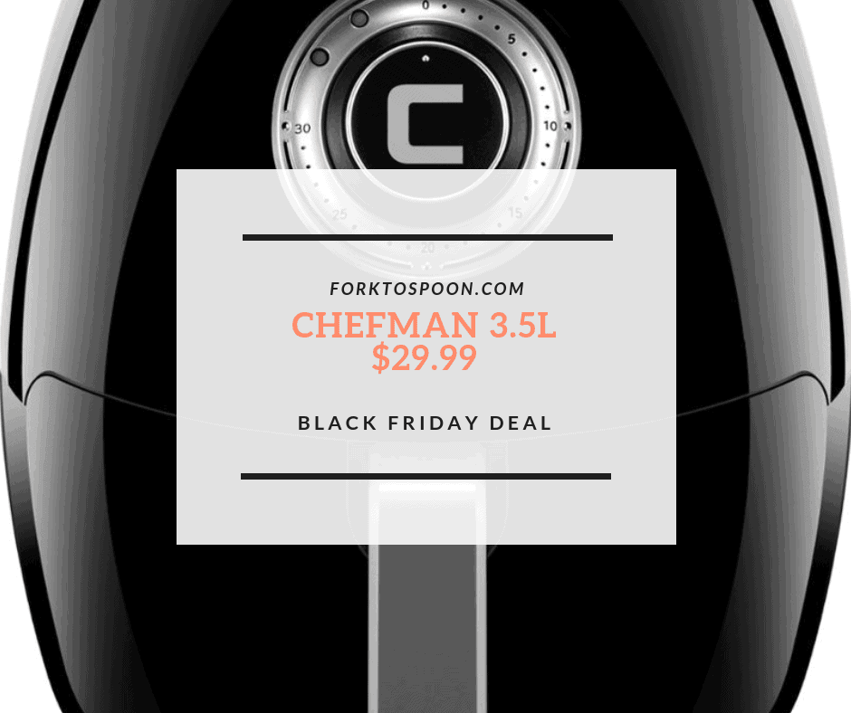 Best Buy Black Friday: Chefman – 3.5L Analog Air Fryer for $29.99