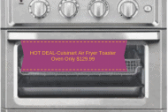 HOT DEAL-Cuisinart Air Fryer Toaster Oven Only $129.99