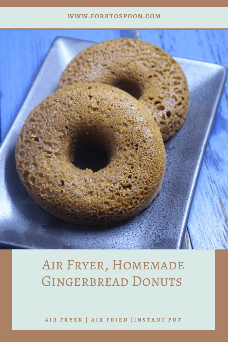 Air Fryer, Homemade Gingerbread Donuts