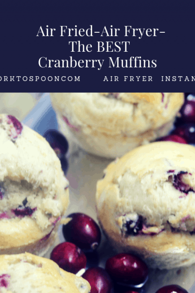 Air Fried-Air Fryer-The BEST Cranberry Muffins