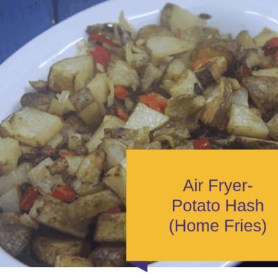 Air Fryer-Air Fried-Homemade Breakfast Potatoes-Hash