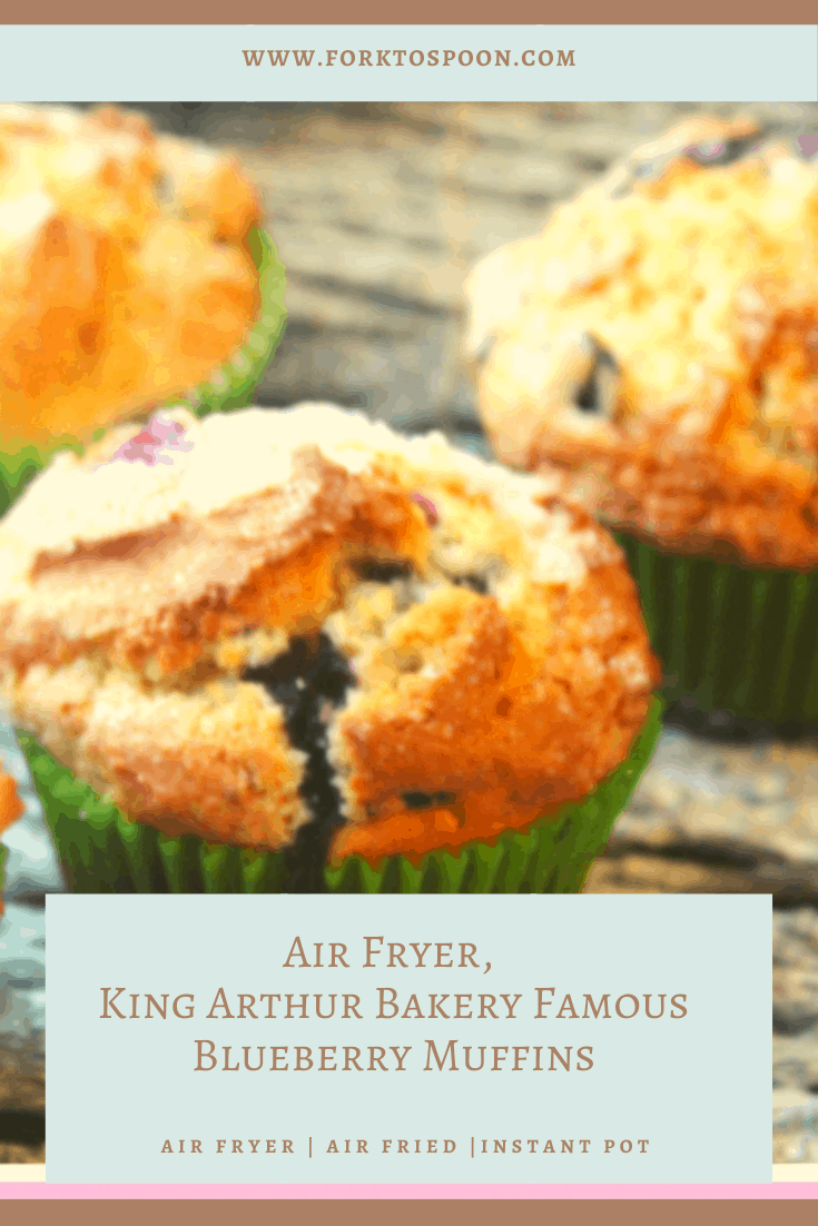 Air Fryer Blueberry Muffins