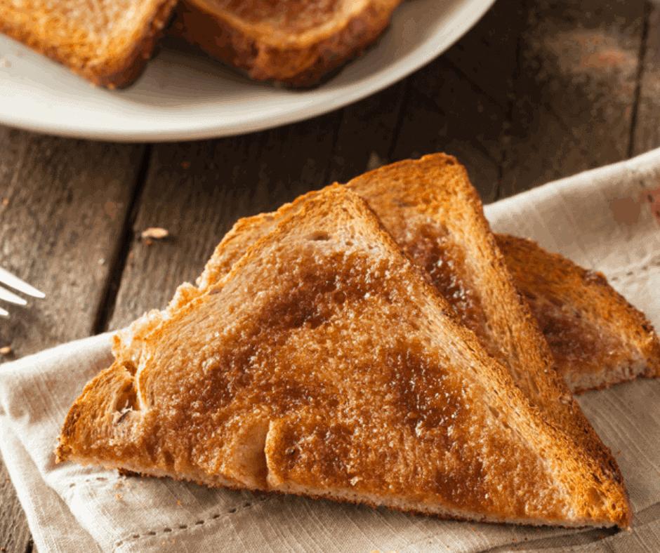 Air Fryer Cinnamon and Vanilla Toast